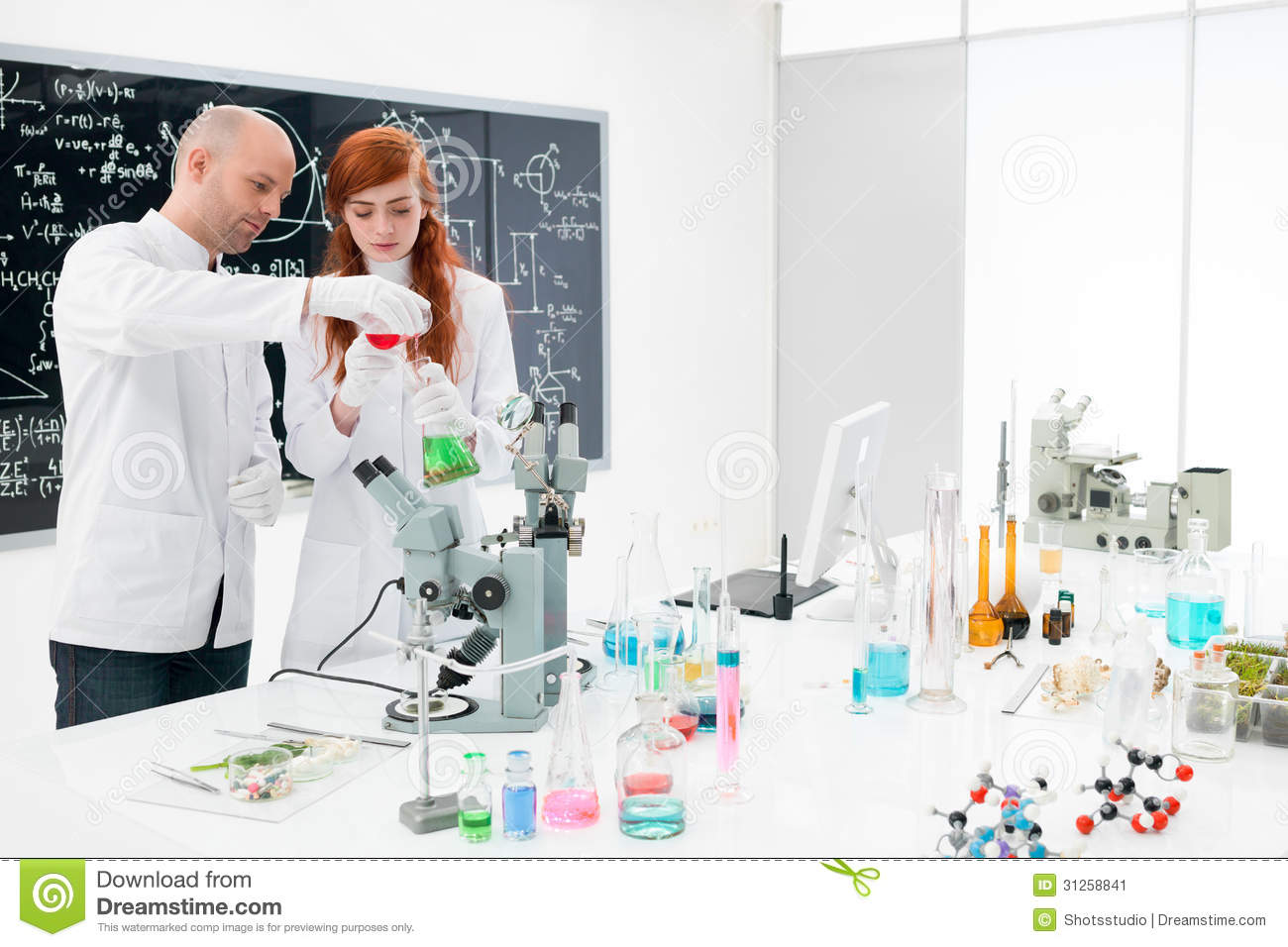 Chemistry Lab Students Chemistry lab experiment