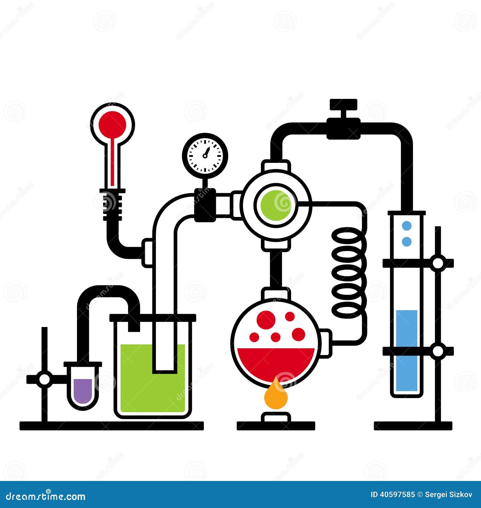 Chemistry Laboratory Infographic Set 2 Stock Vector - Image: 40597585