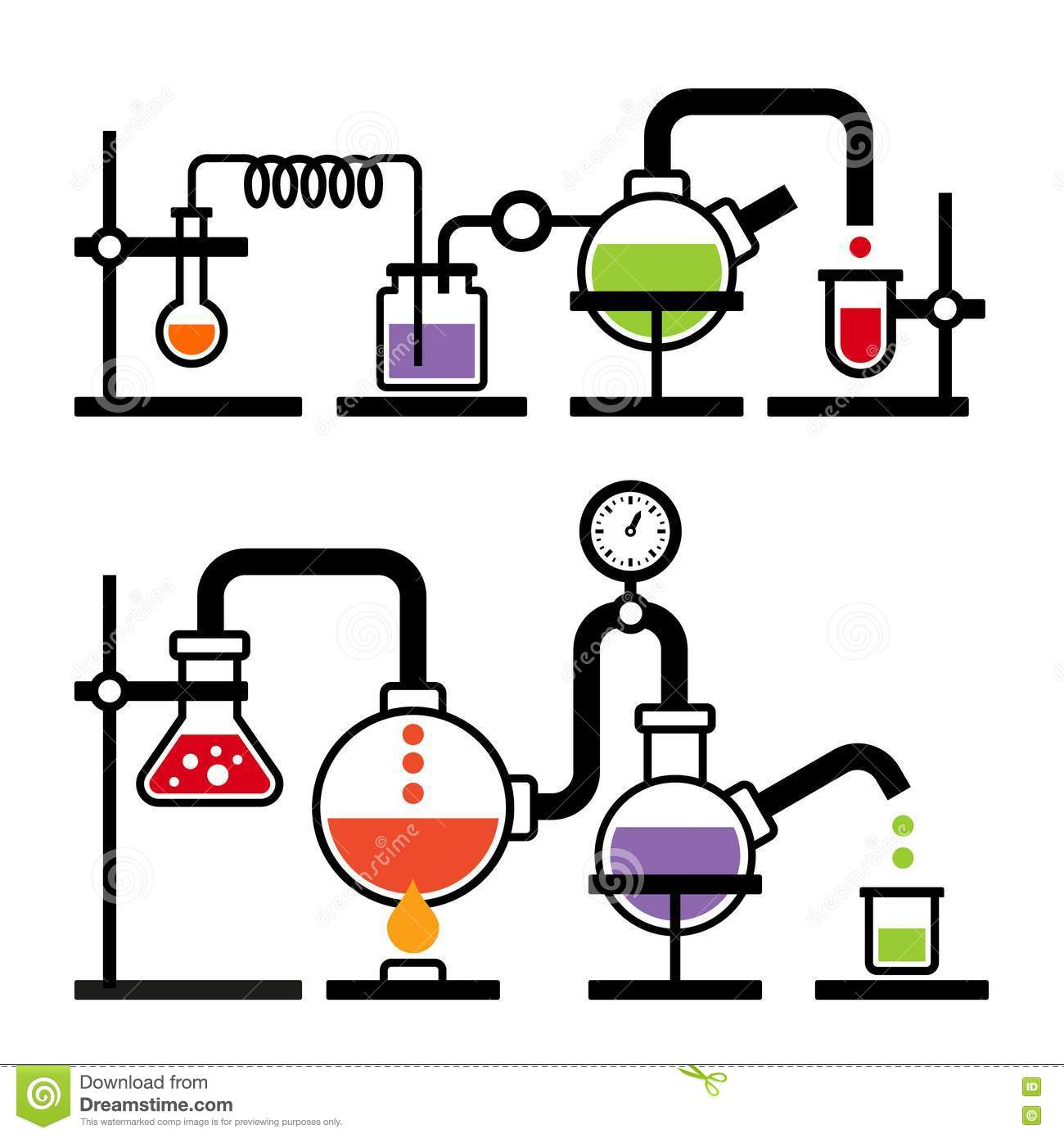 Chemistry Laboratory Infographic Stock Vector - Image: 40283254