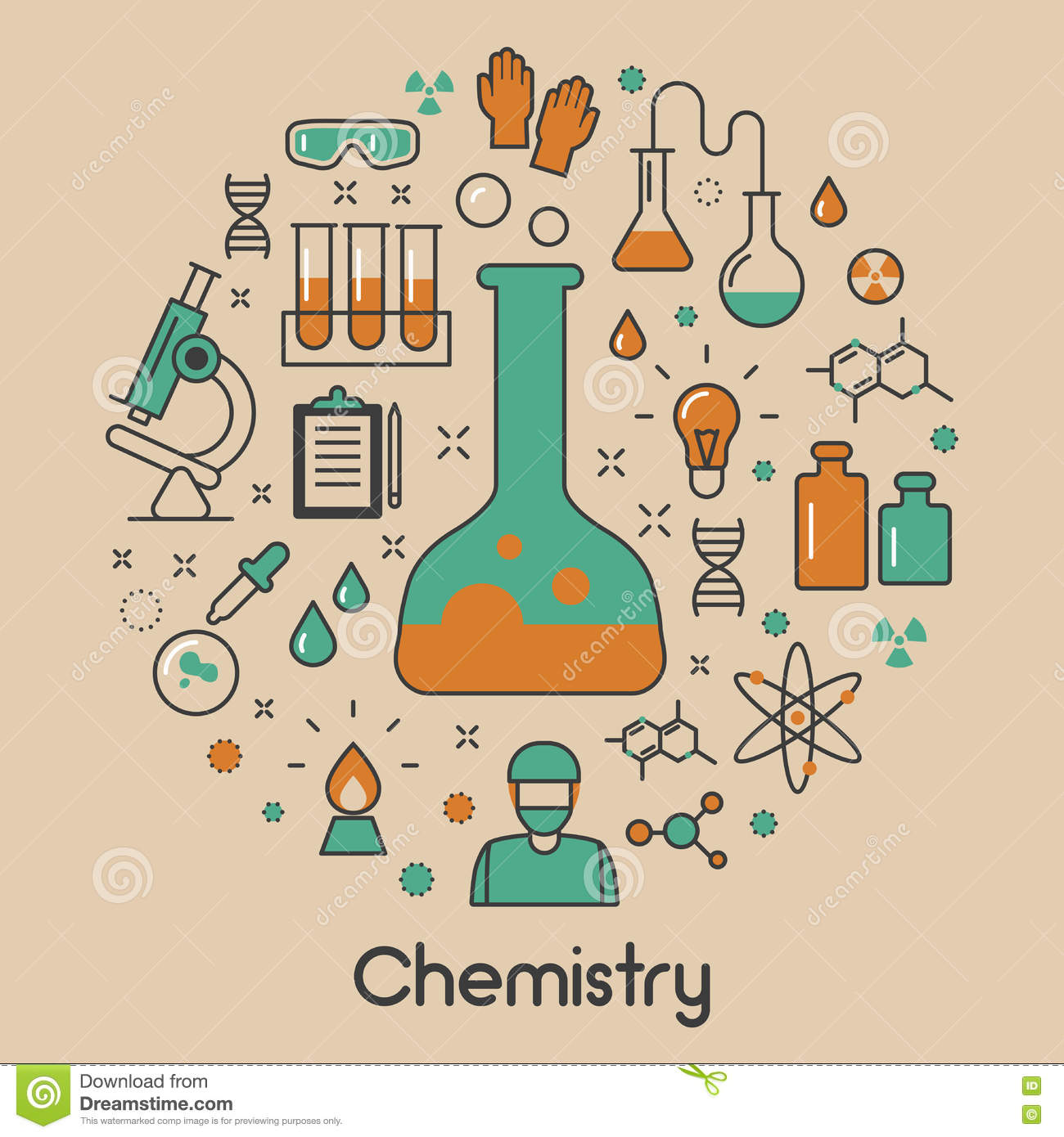 Line Drawing Rules Chemistry : Chemistry line art thin icons set with dna and chemical