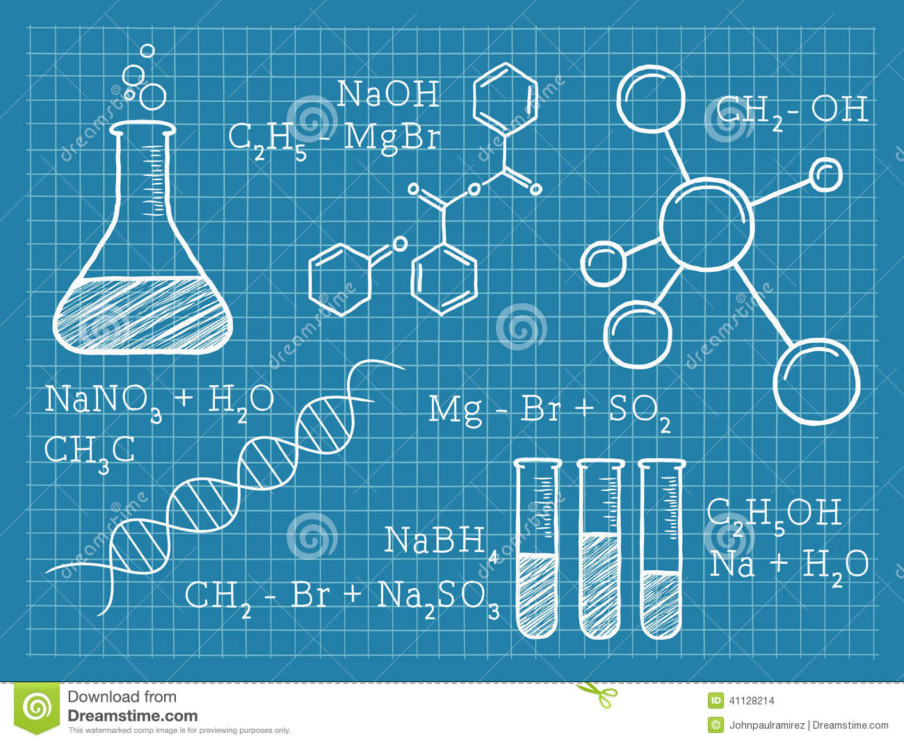 Chemistry, Science, Chemical Elements Stock Vector ...