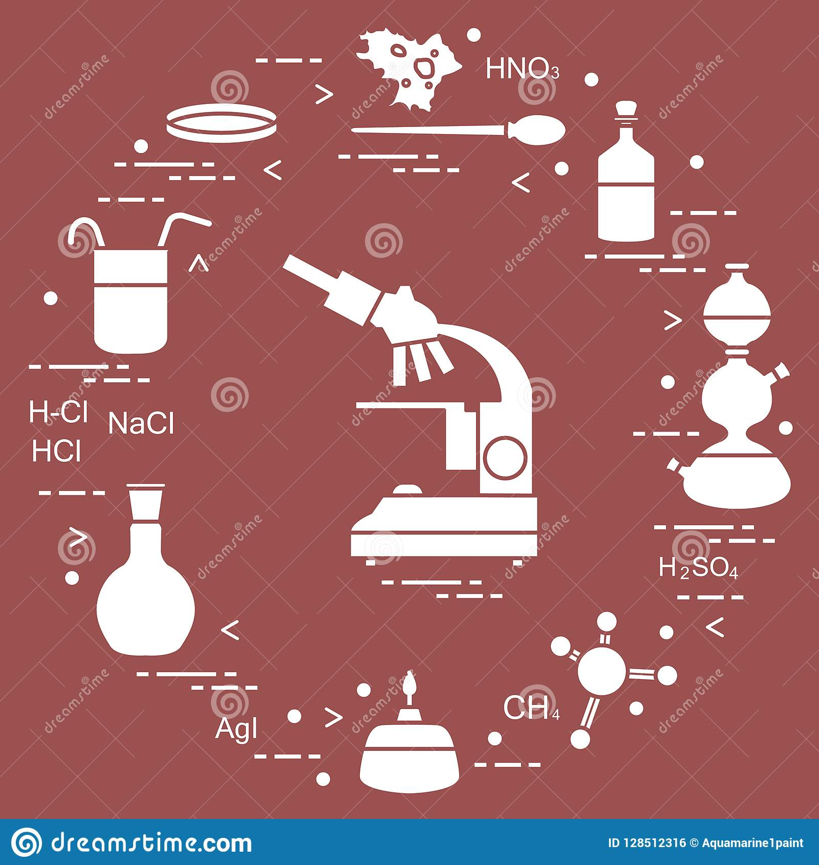 Chemistry Scientific, Education Elements  Stock Vector