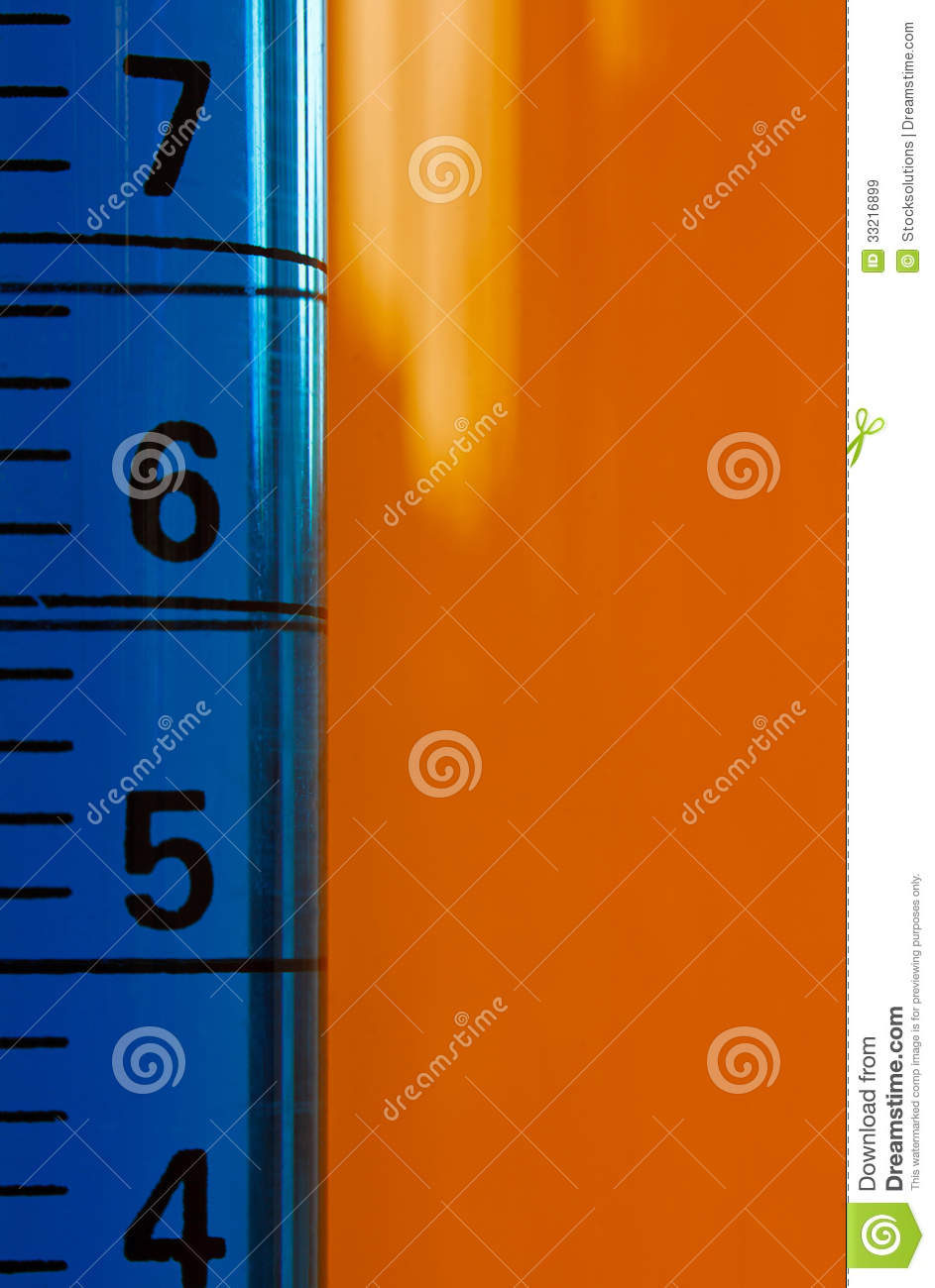 Measuring Graduated Cylinder Used In Laboratories To Measure Fluids In