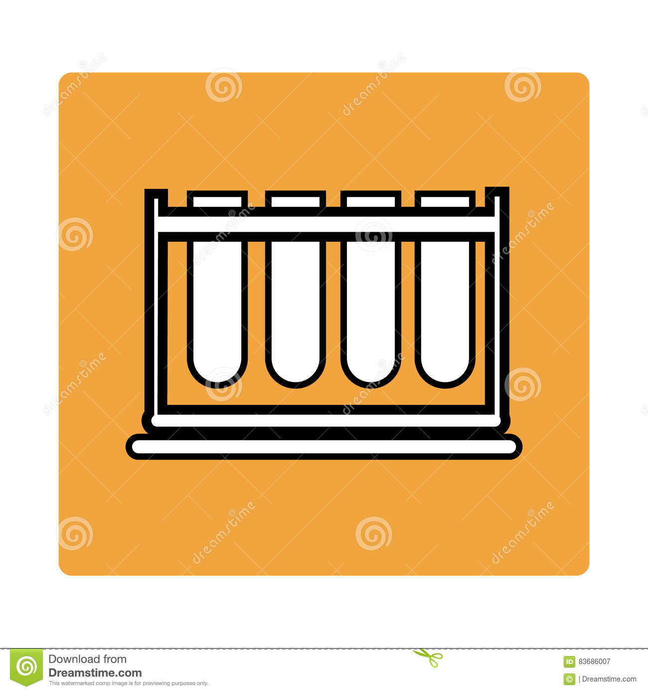 Chemistry tool stock vector  Illustration of font, tube
