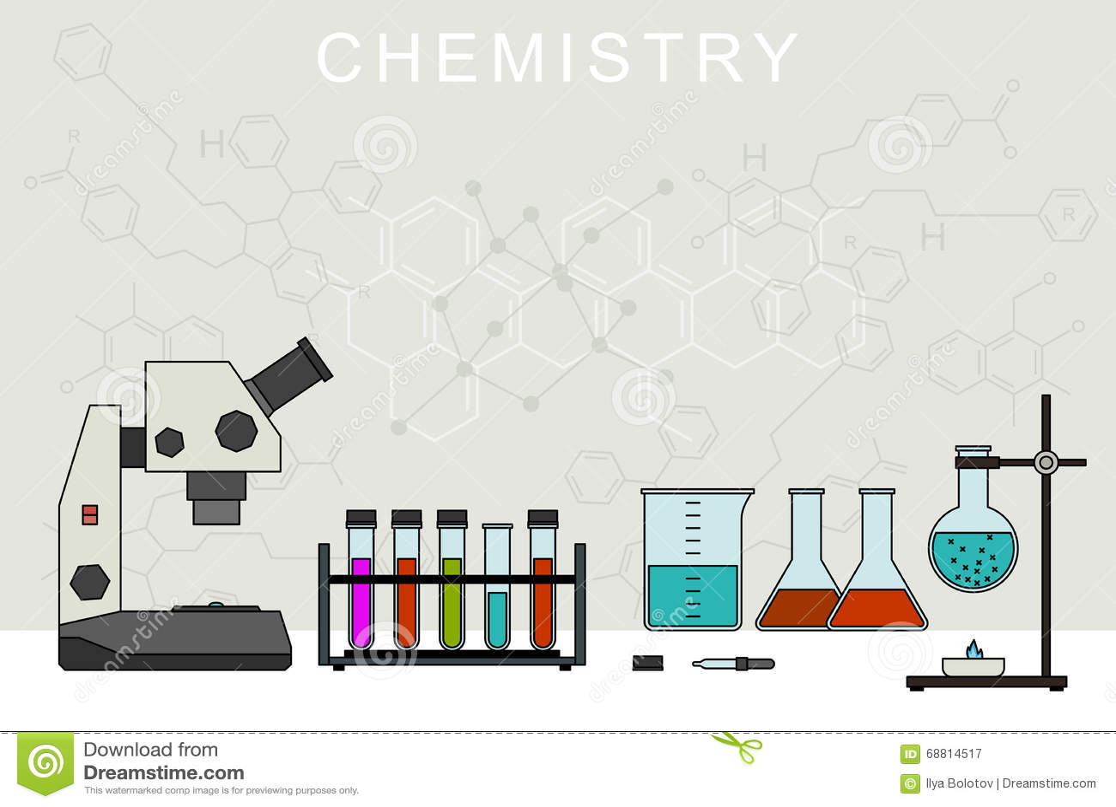 Chemistry vector banner stock vector illustration of equipment chemistry vector banner ccuart Images