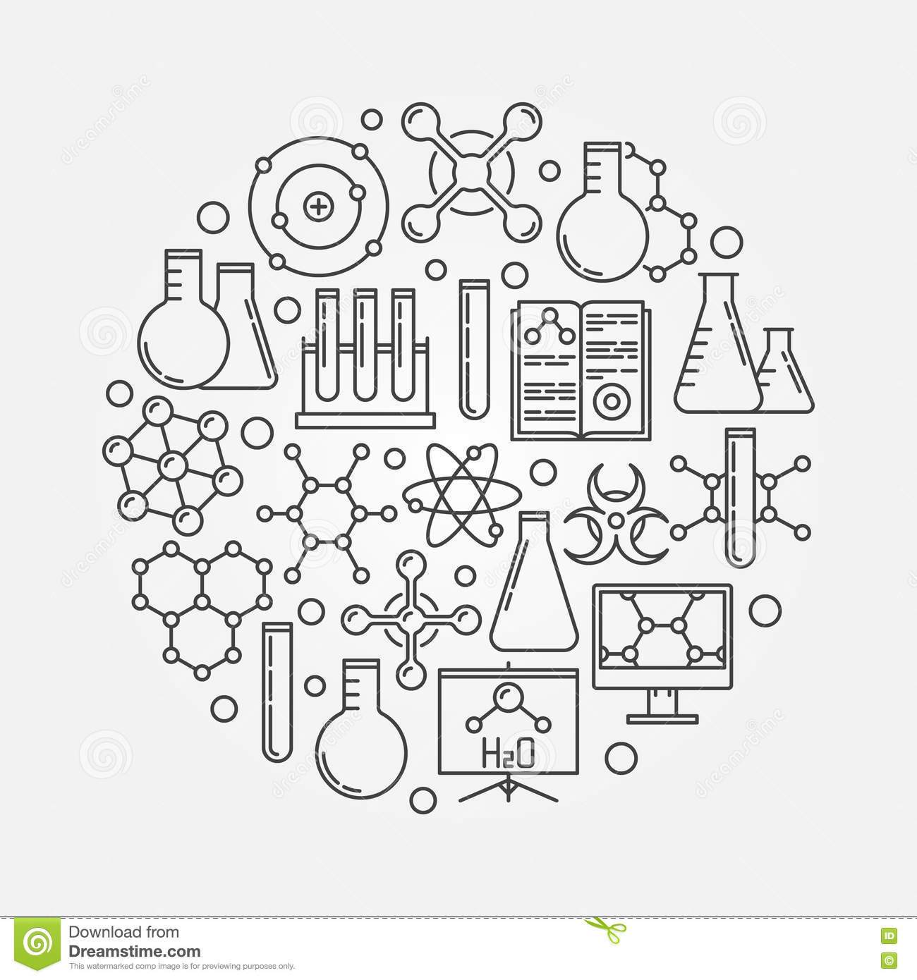 Line Drawing Chemistry : Chemistry vector illustration stock