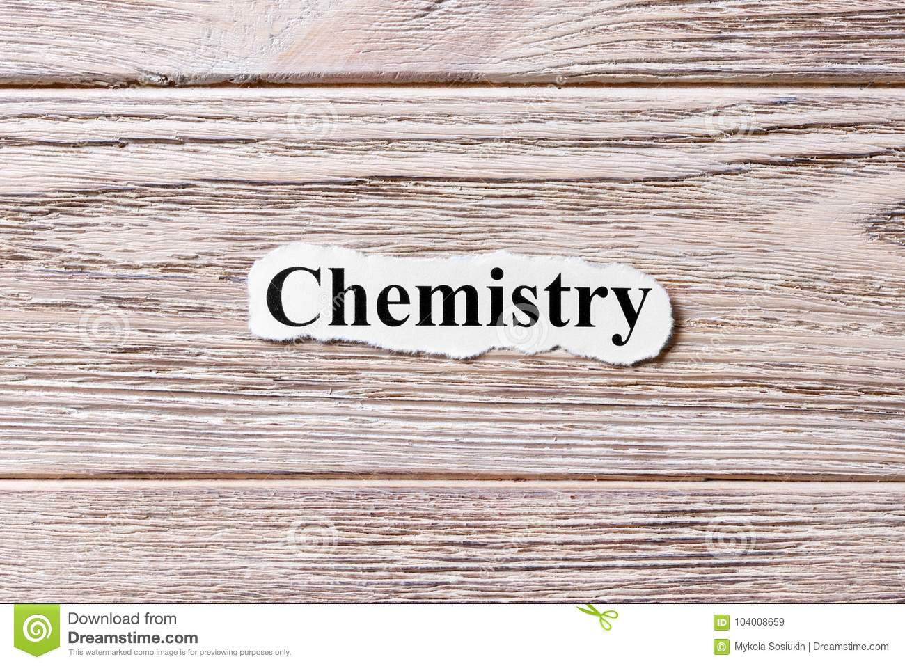 chemistry of the word on paper concept words of chemistry on a