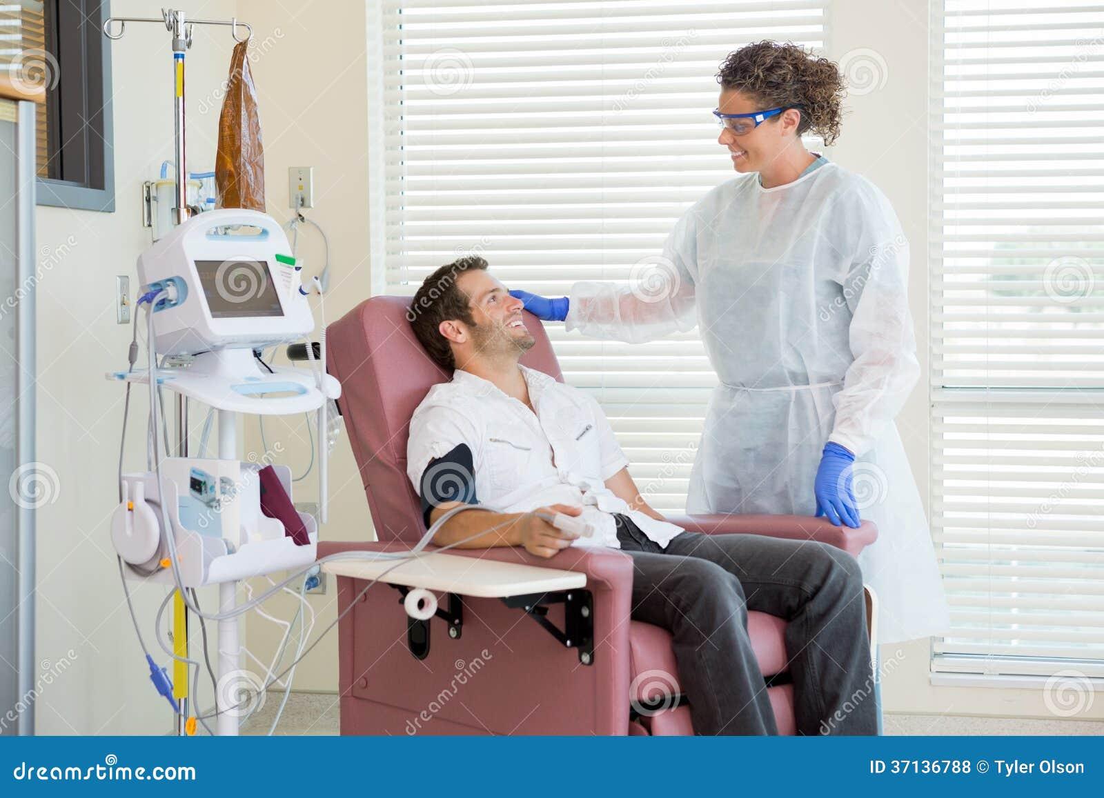 Chemo Patient with Nurse