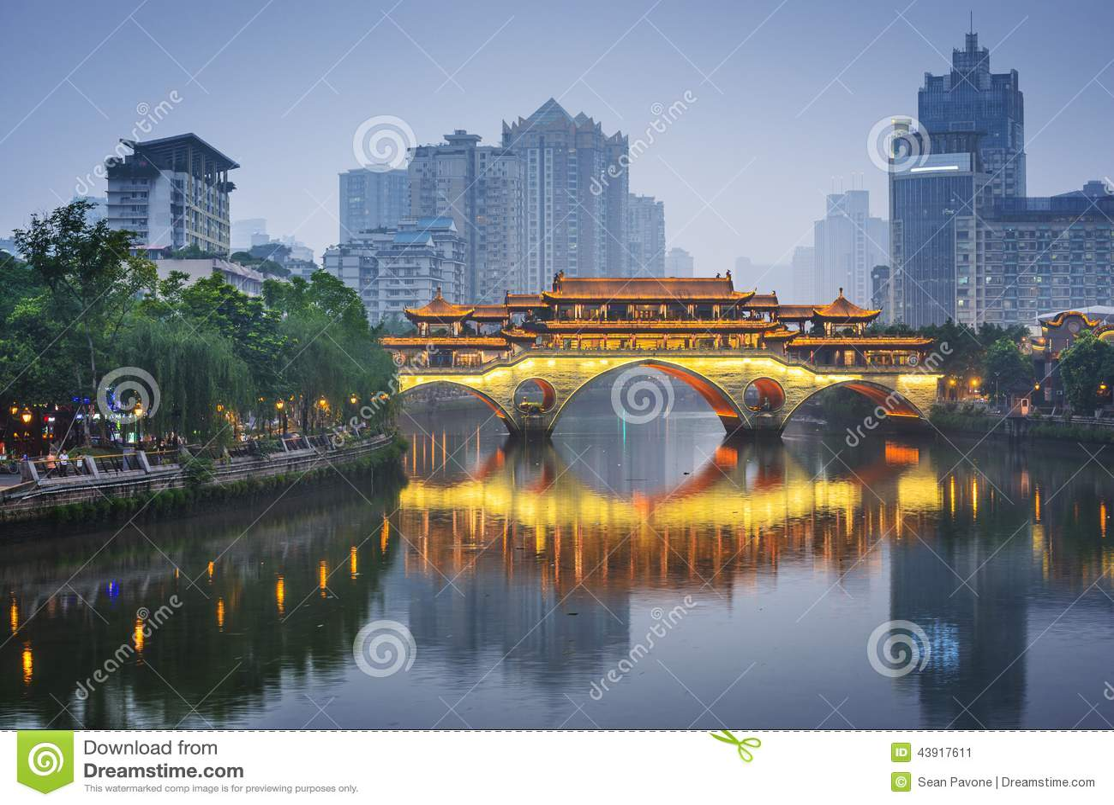 Chengdu, China em Jin River