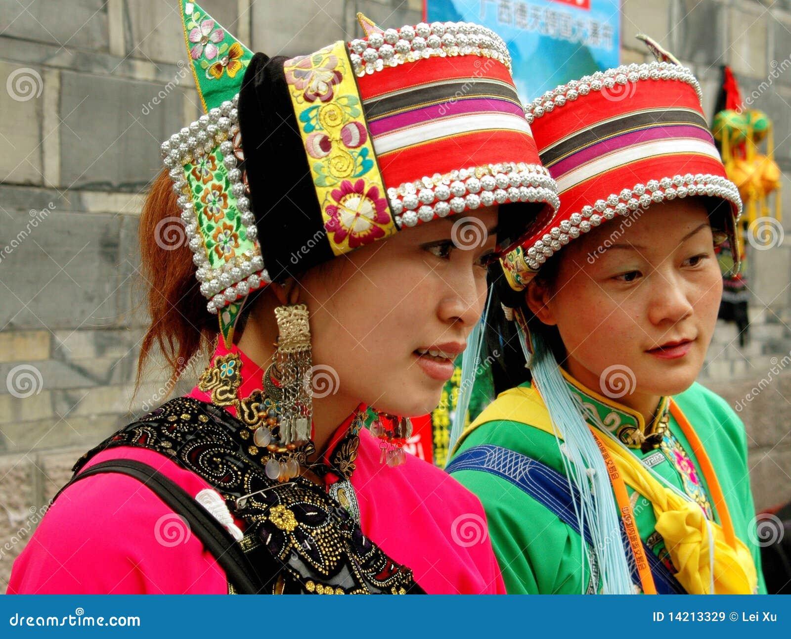 Chengdu, China: Mujeres de Yi de la persona de origen chino
