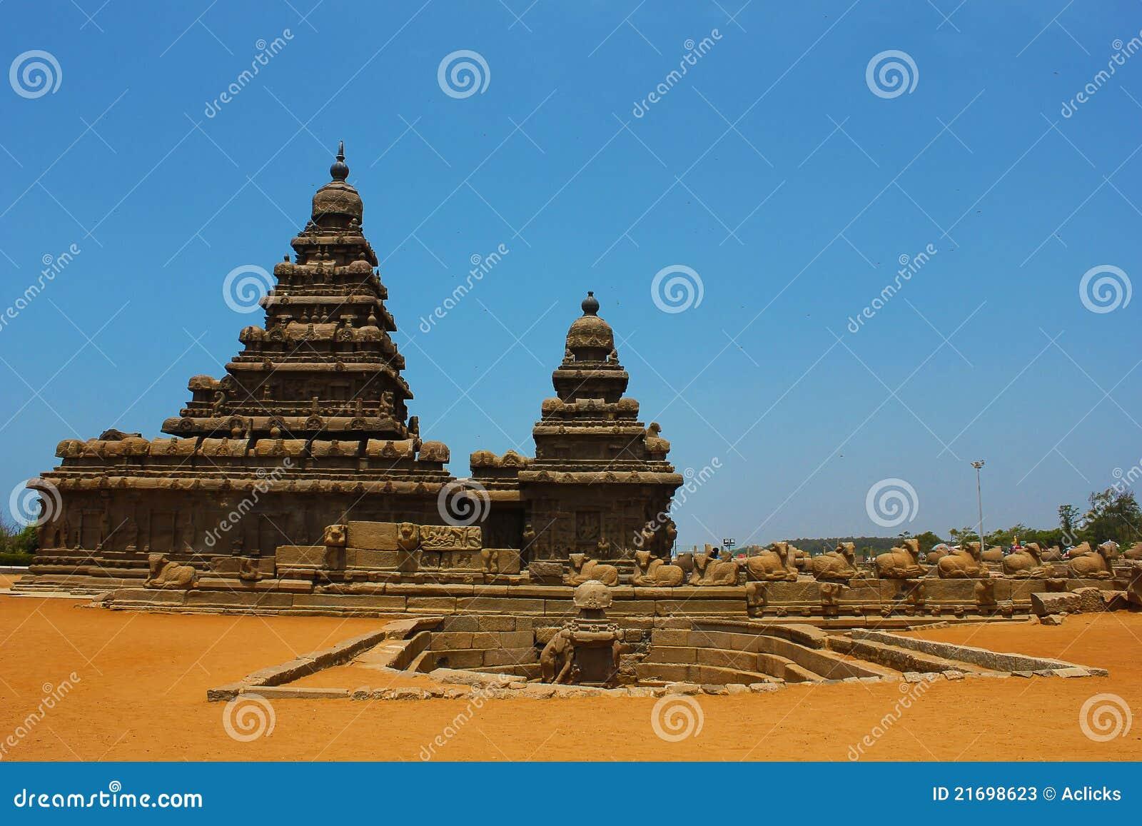 Chennai ind mahabalipuram brzeg świątynia