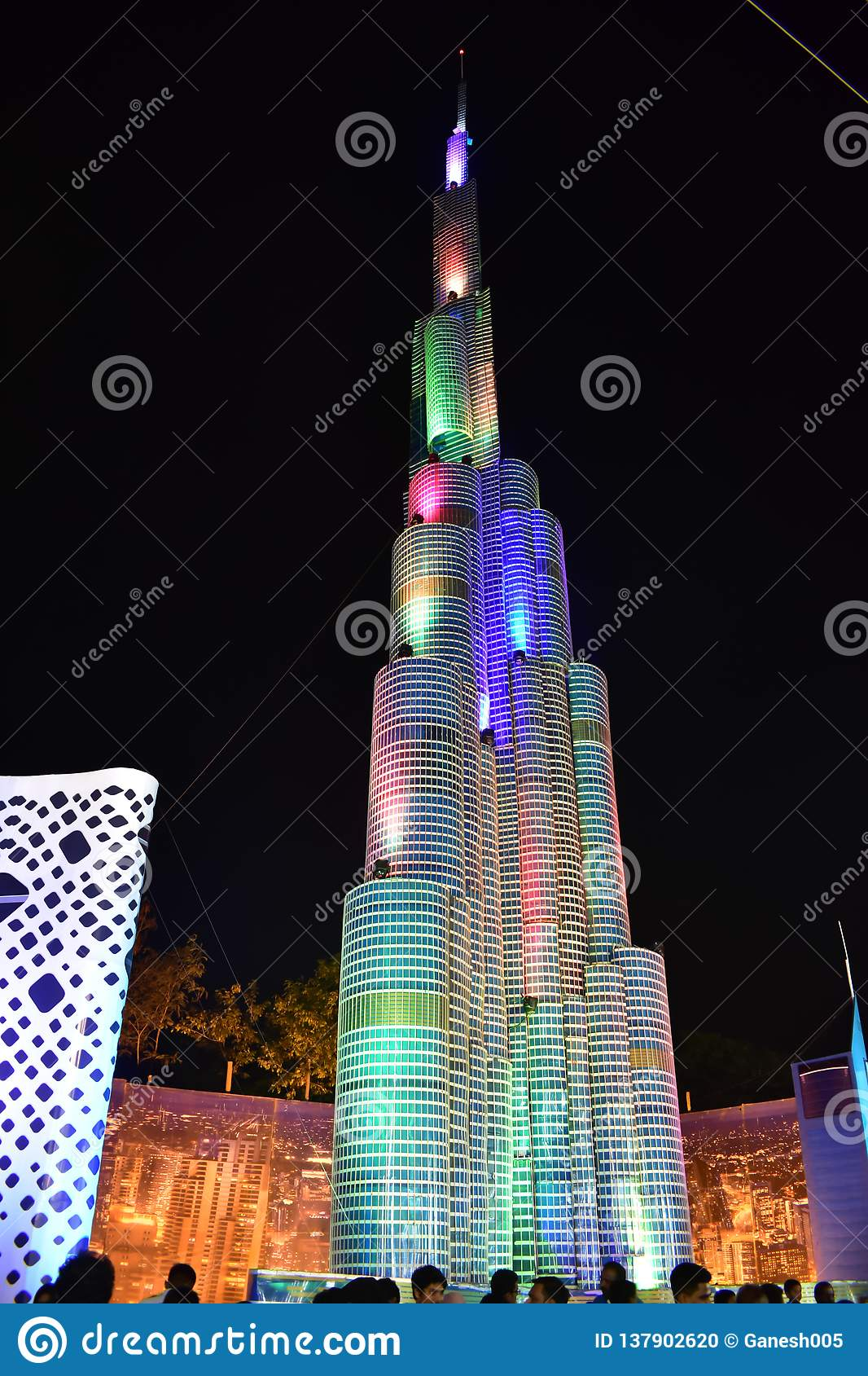 Chennai, Tamilnadu, India - January 20, 2019 : Burj Khalifa