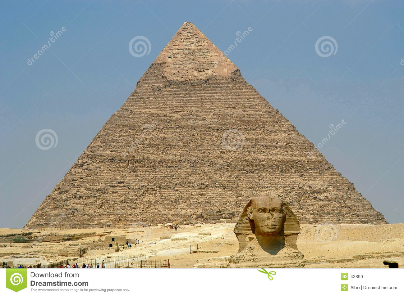 Cheope pyramid and Sphynx