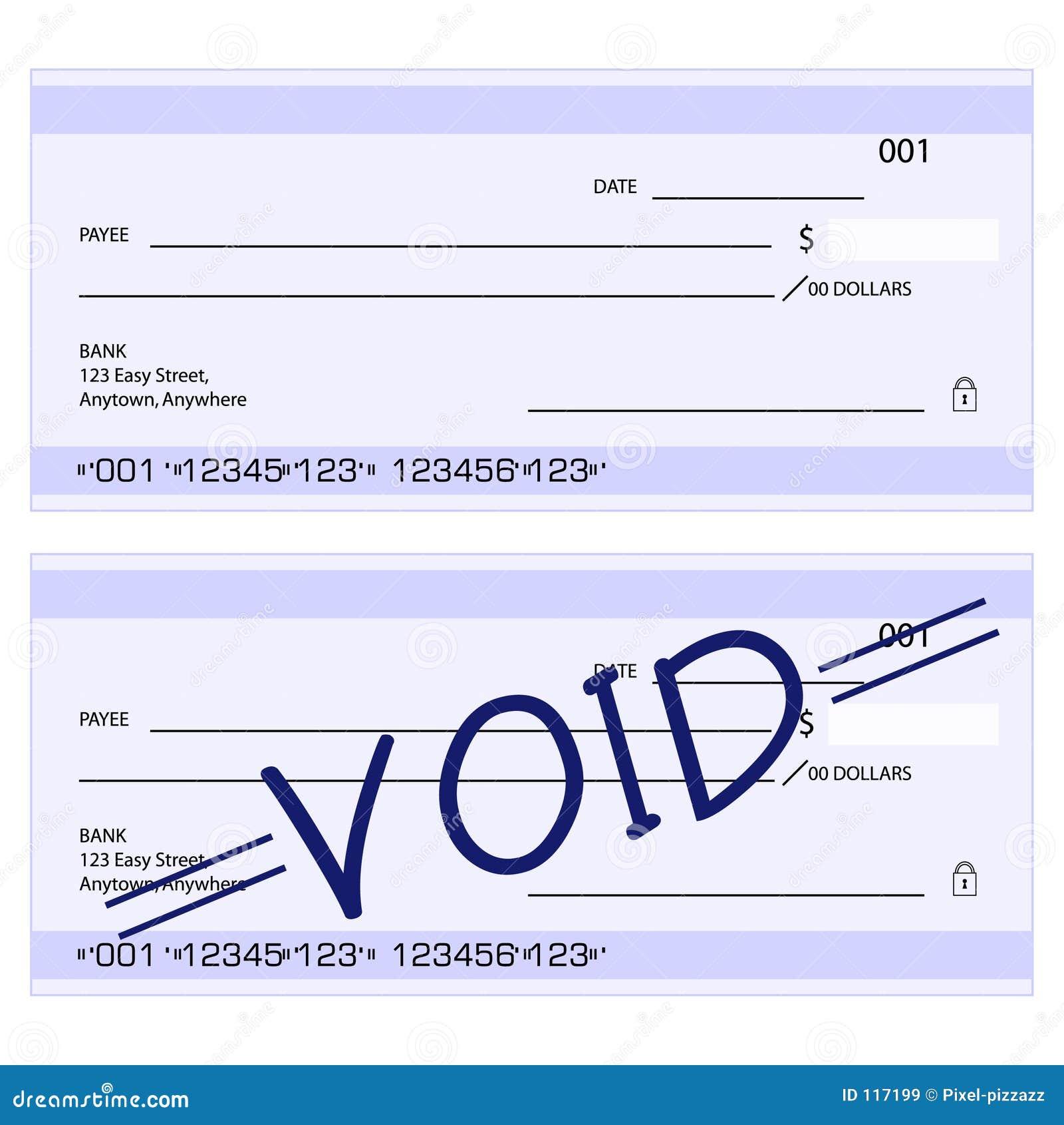 Cheques genéricos em branco