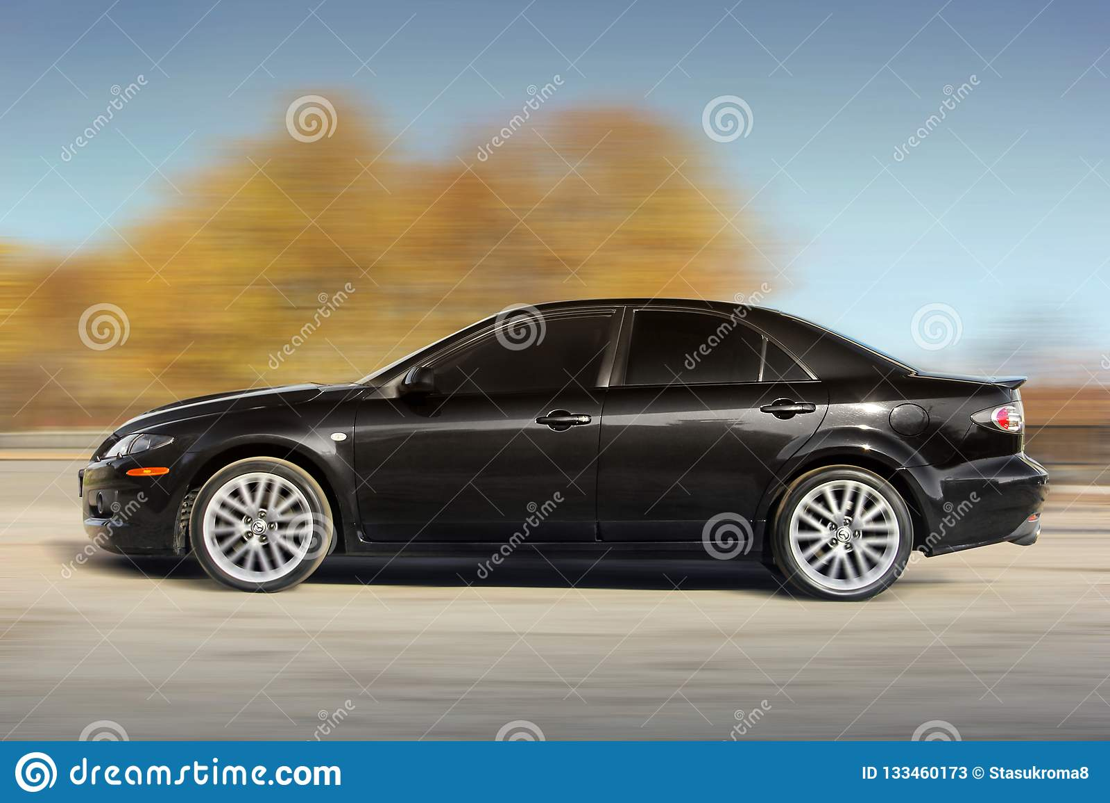 Chernigov Ukraine November 10 2018 Mazda 6 Mps In Motion