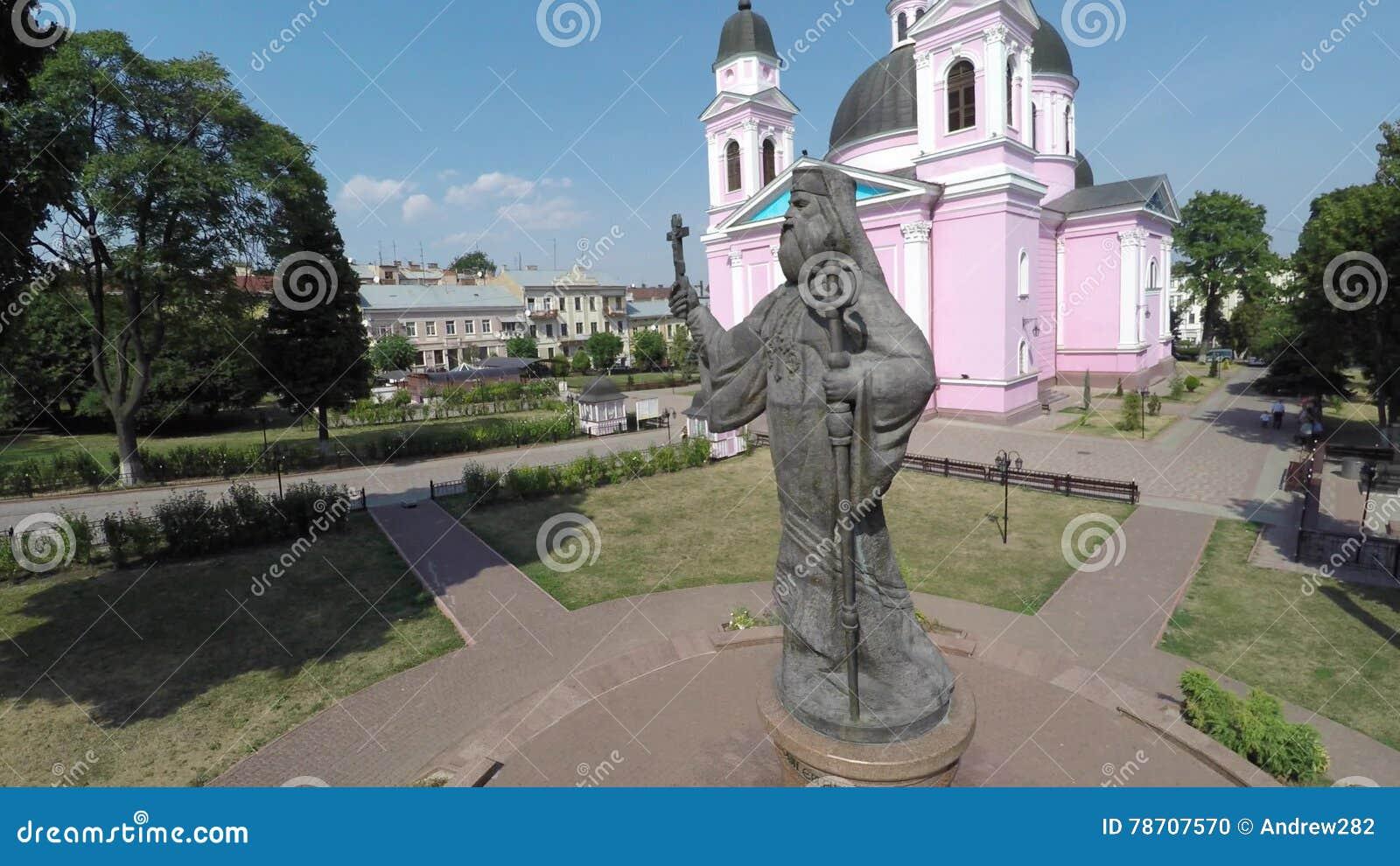 CHERNIVTSI, UKRAINE Monument Of Metropolitan Eugene (Hakman