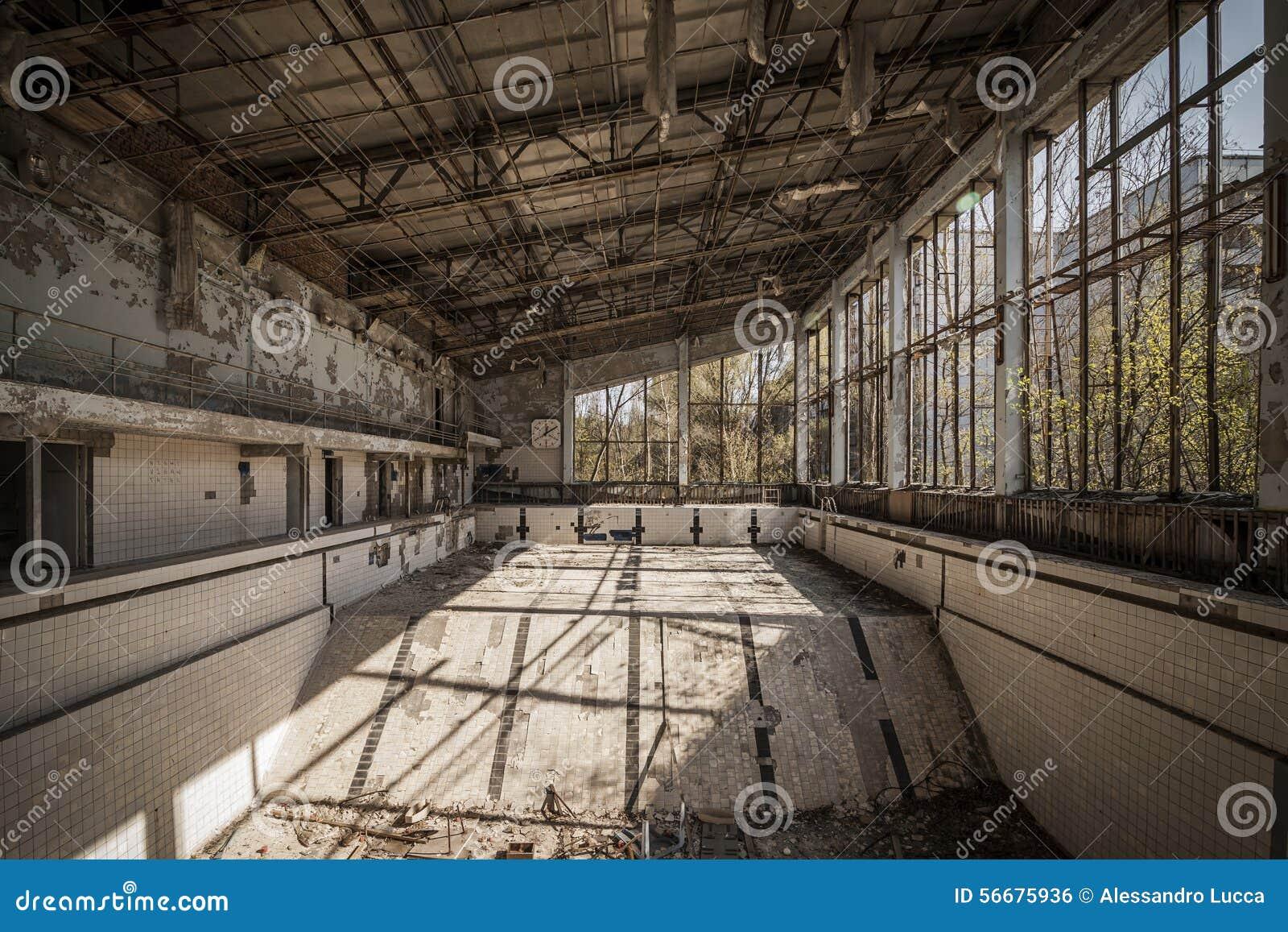 Chernobyl Abandoned Swimming Pool In Pripyat Stock Photo Image Of Broken Abandoned 56675936