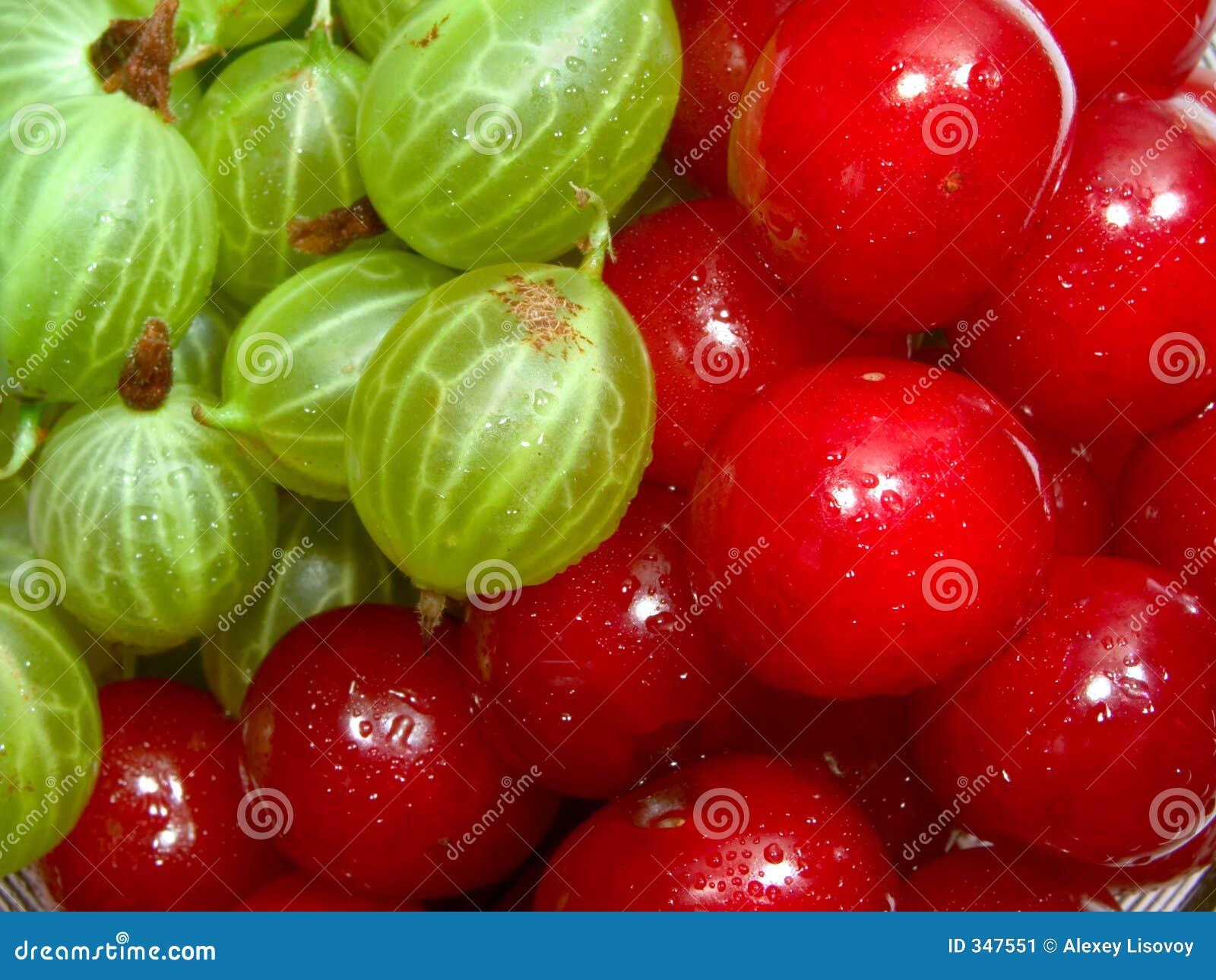 Cherries and gooseberries 1