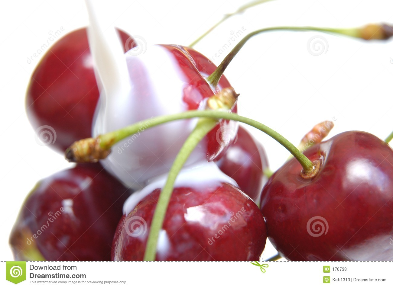 Cherries with milk V