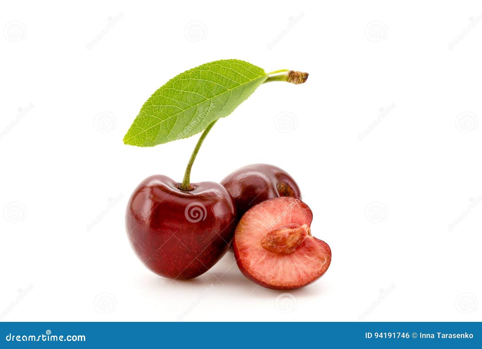 Cherries on white