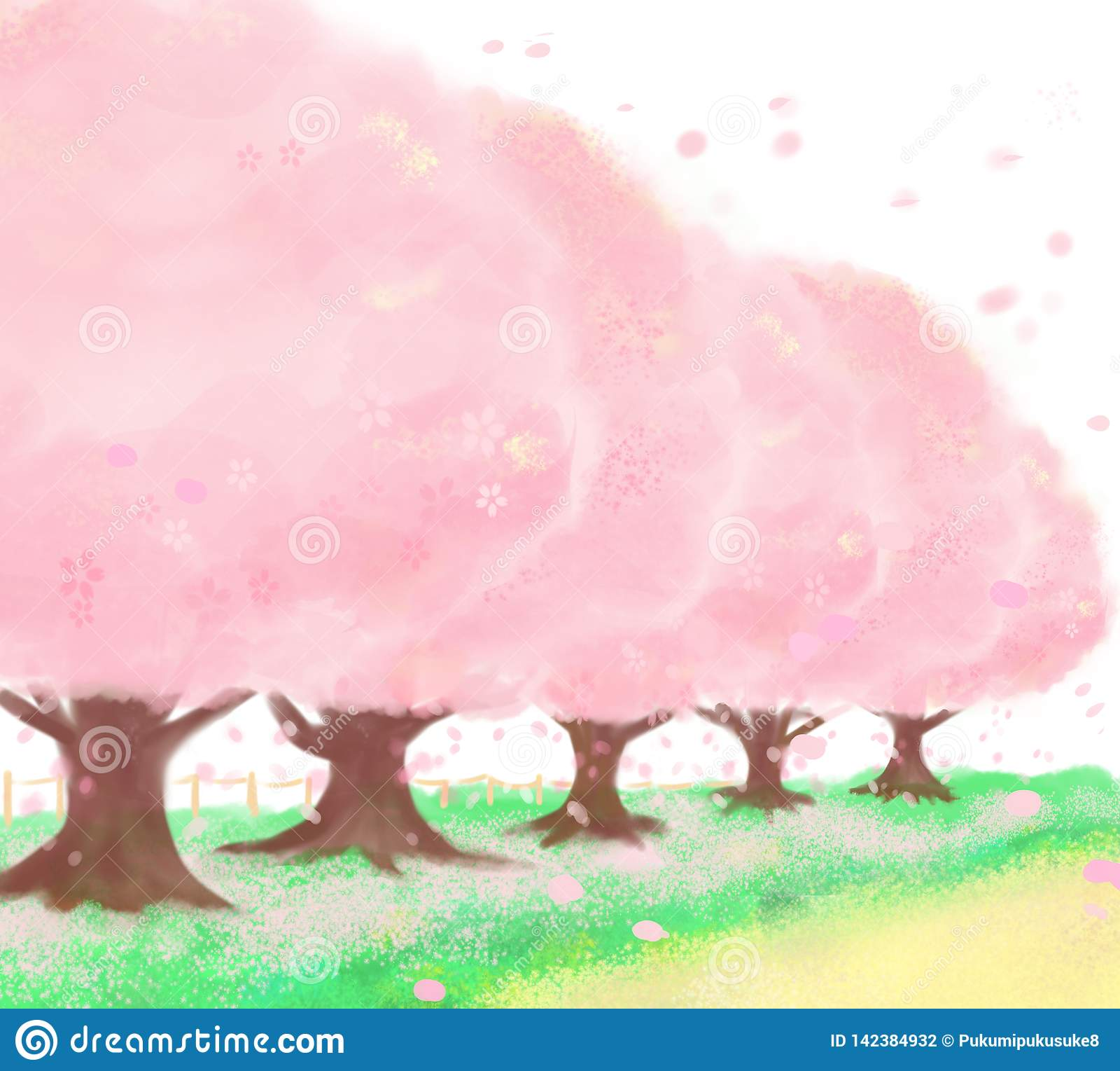 Cherry† tree† voerde weg die zeer mooi is