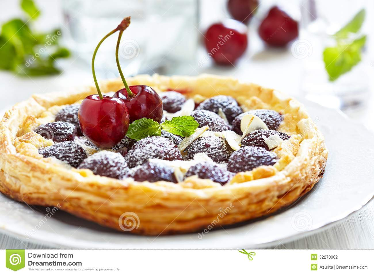 Cherry and Almond Tart