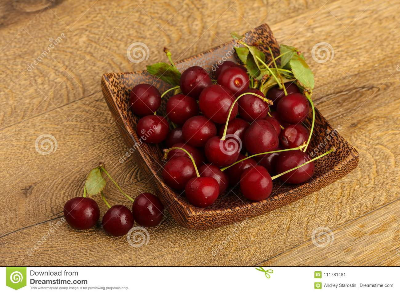 Cherry berries in the bowl