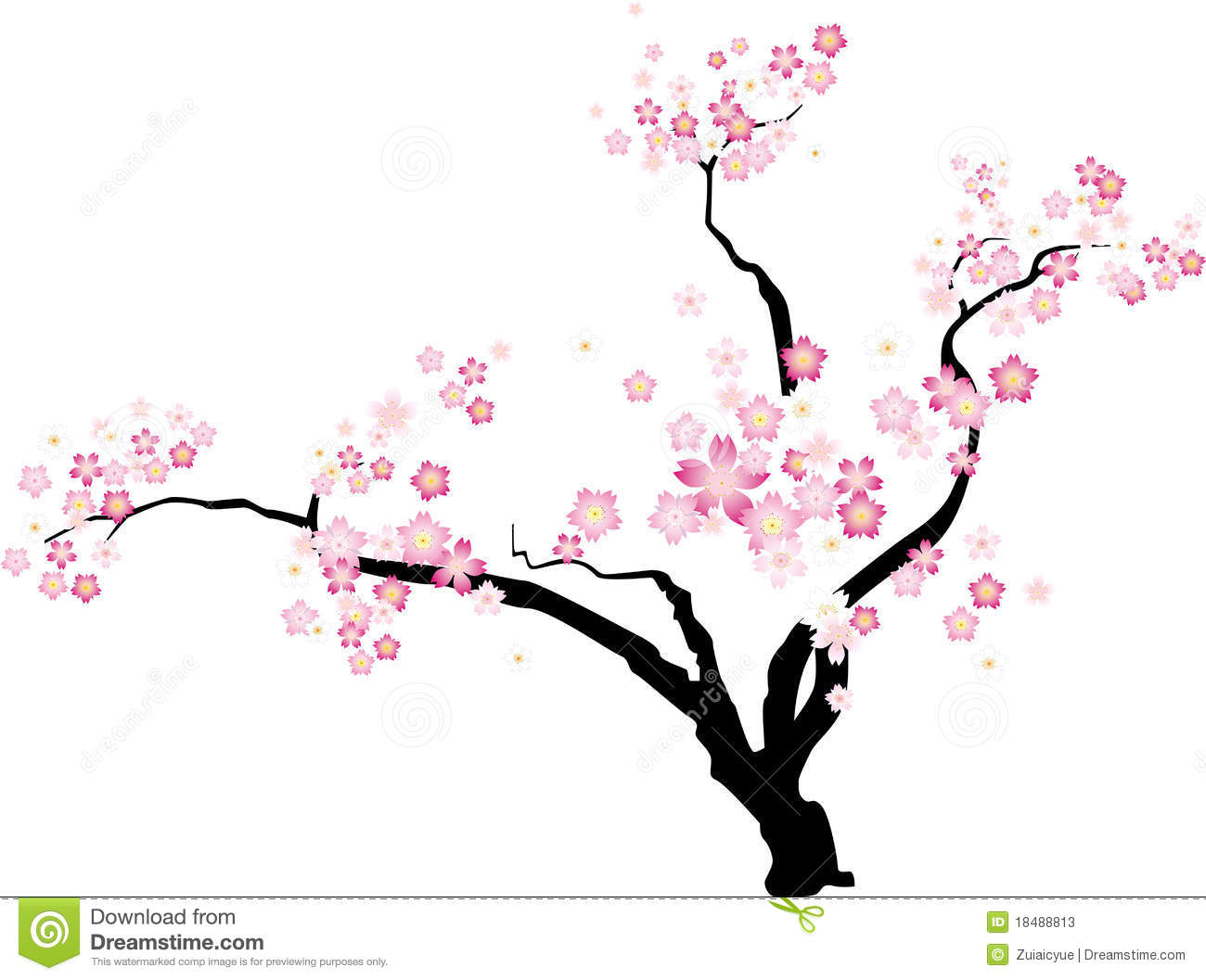 Cherry blossom stock vector. Image of shape, pink, pattern - 18488813