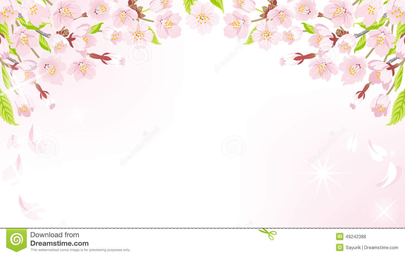 Background image position - Cherry Blossom Background Above Eps10 Royalty Free Stock Photos