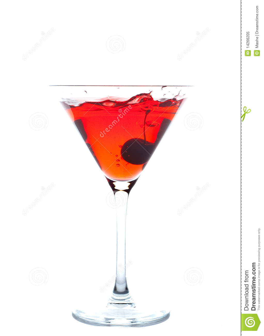 Cherry Blossom Cocktail Royalty Free Stock Photo - Image: 14266205