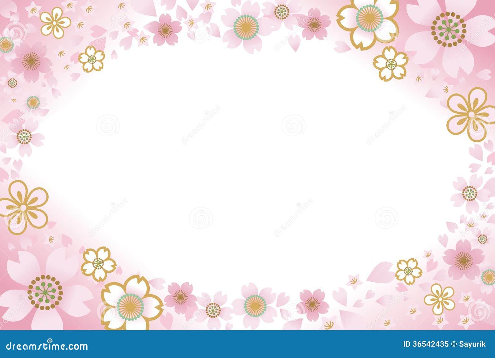Cherry Blossom Frame Royalty Free Stock Photo Image
