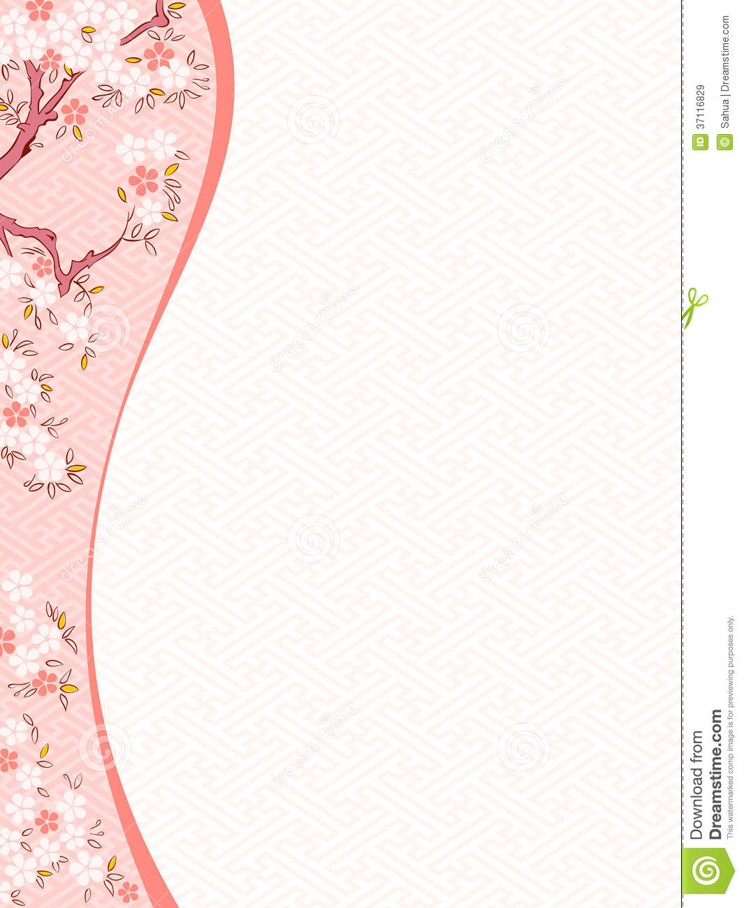 Cherry Blossom Template Royalty Free Stock Images - Image: 37116829