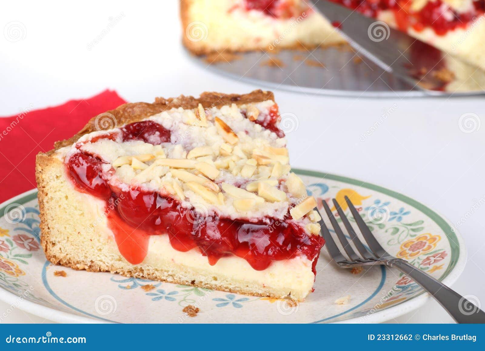 Cherry Cream Cheese Coffe Cake Stock Photography - Image: 23312662