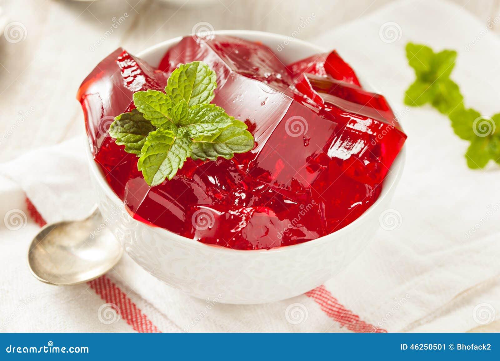 Cherry Gelatin Dessert vermelho caseiro