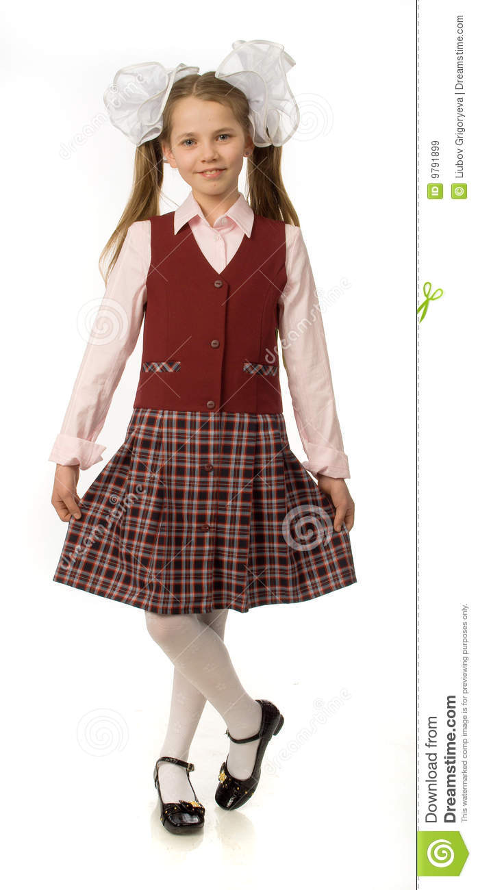 The Cherry Girl In A School Uniform Royalty Free Stock Images - Image ...