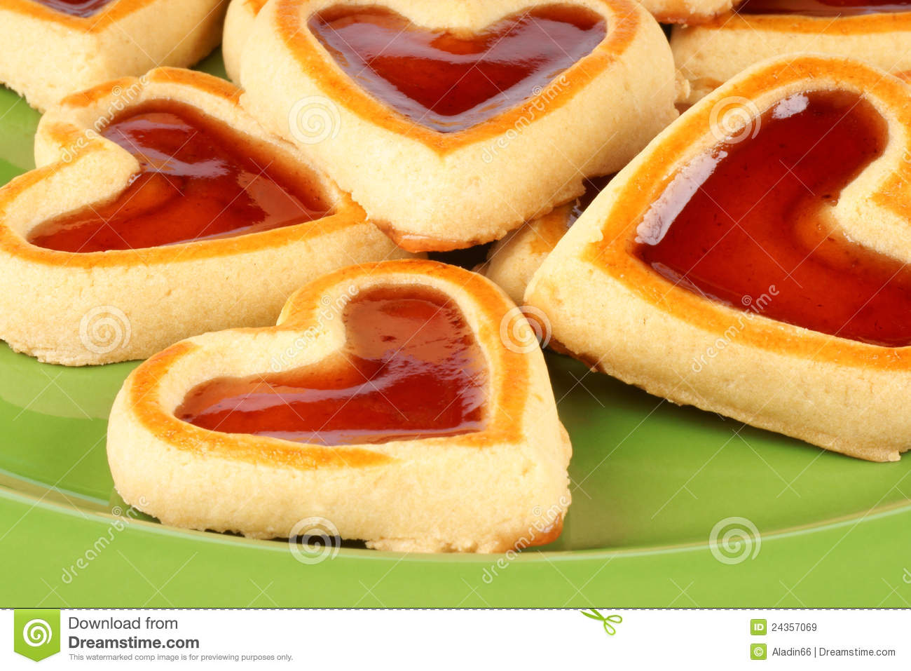 ... of some heart shaped cherry jam cookies for a sweet Valentine's day