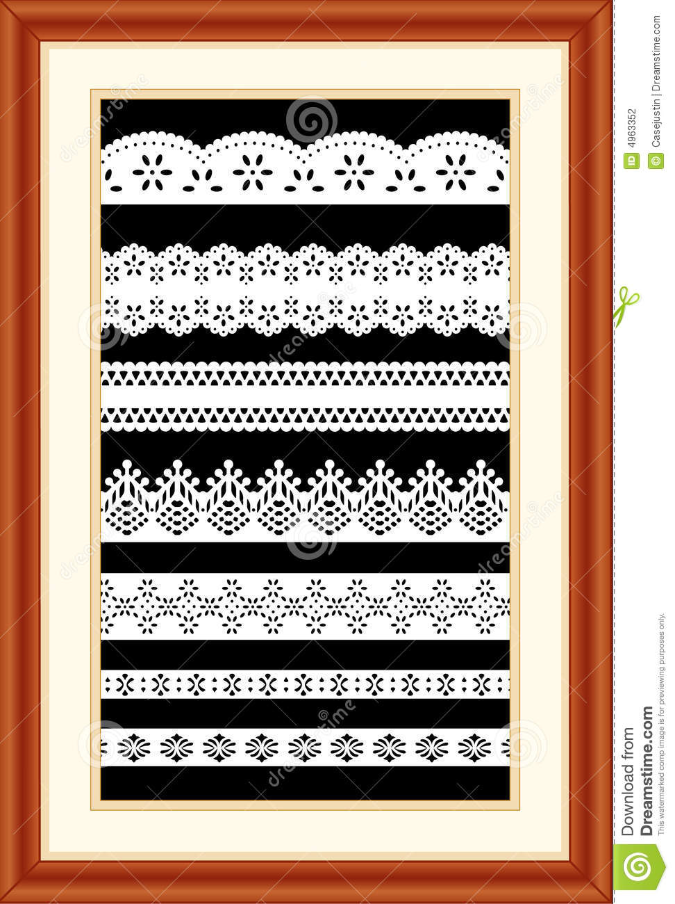 Cherry lace sampler wood