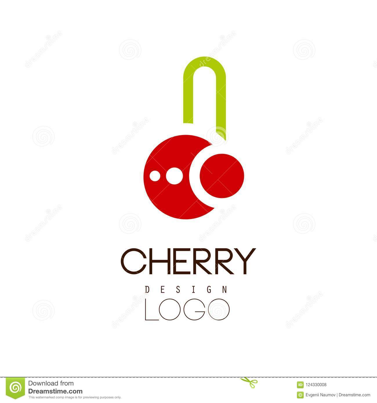 cherry logo design creative template can be used for cafe bar