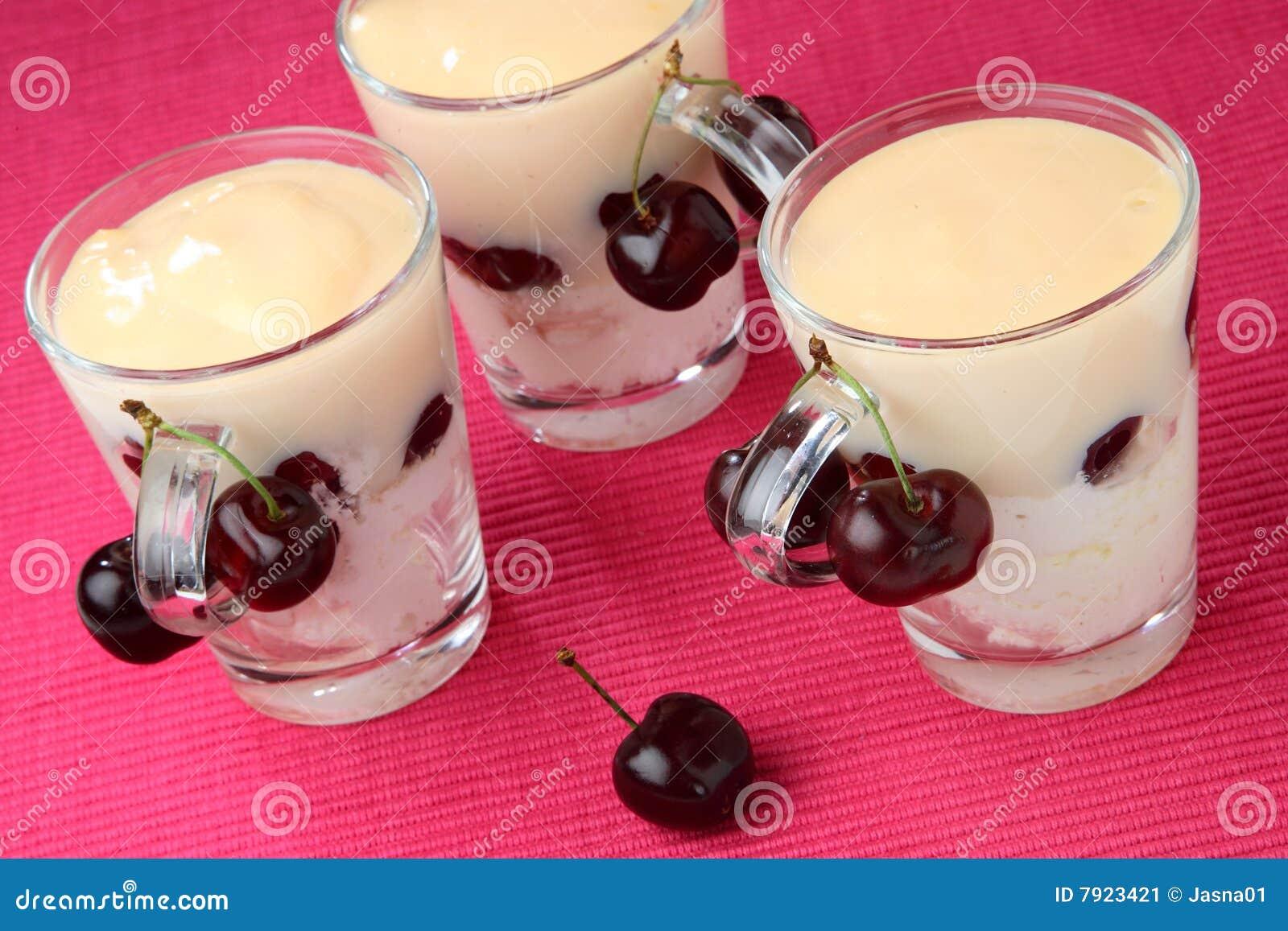 Cherry mascarpone cream