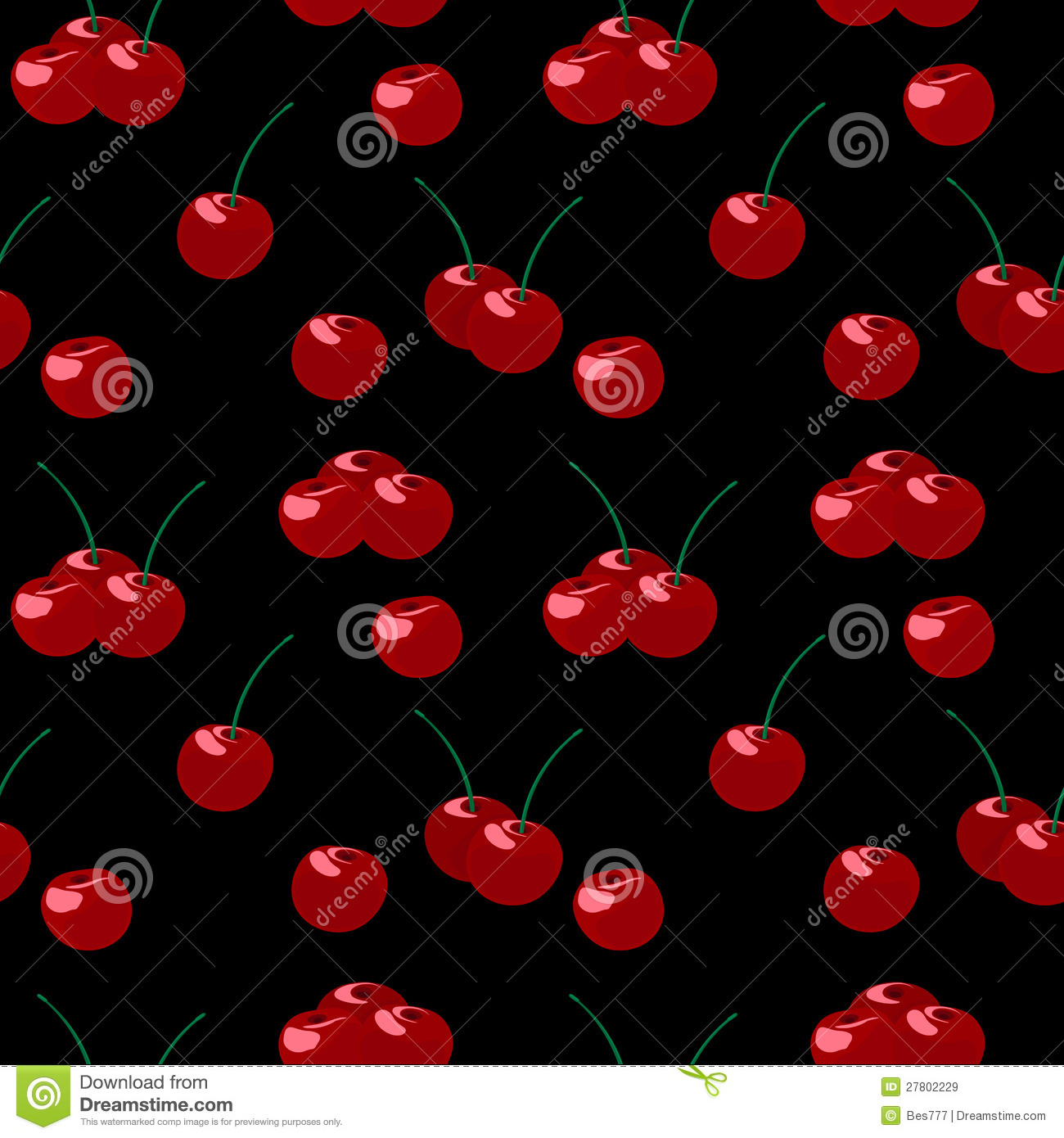 Cherry Pattern Royalty Free Stock Images - Image: 27802229