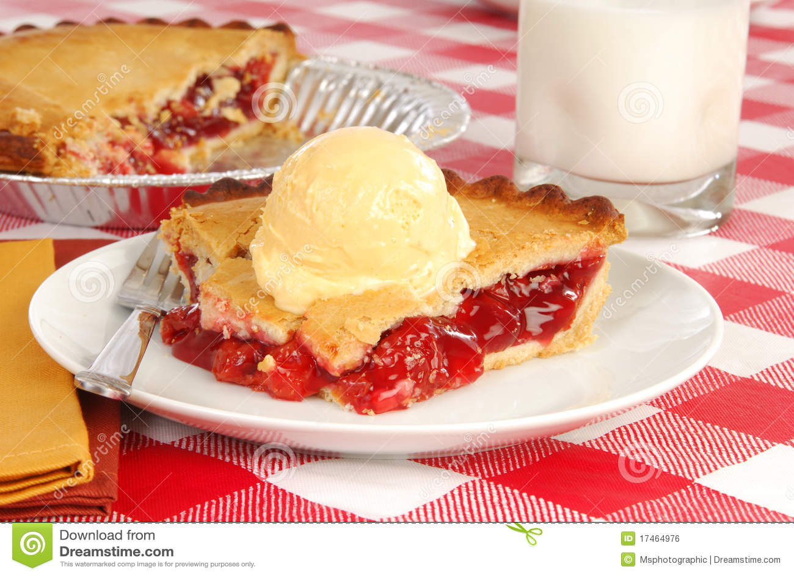 Cherry Pie With Ice Cream Royalty Free Stock Image - Image ...
