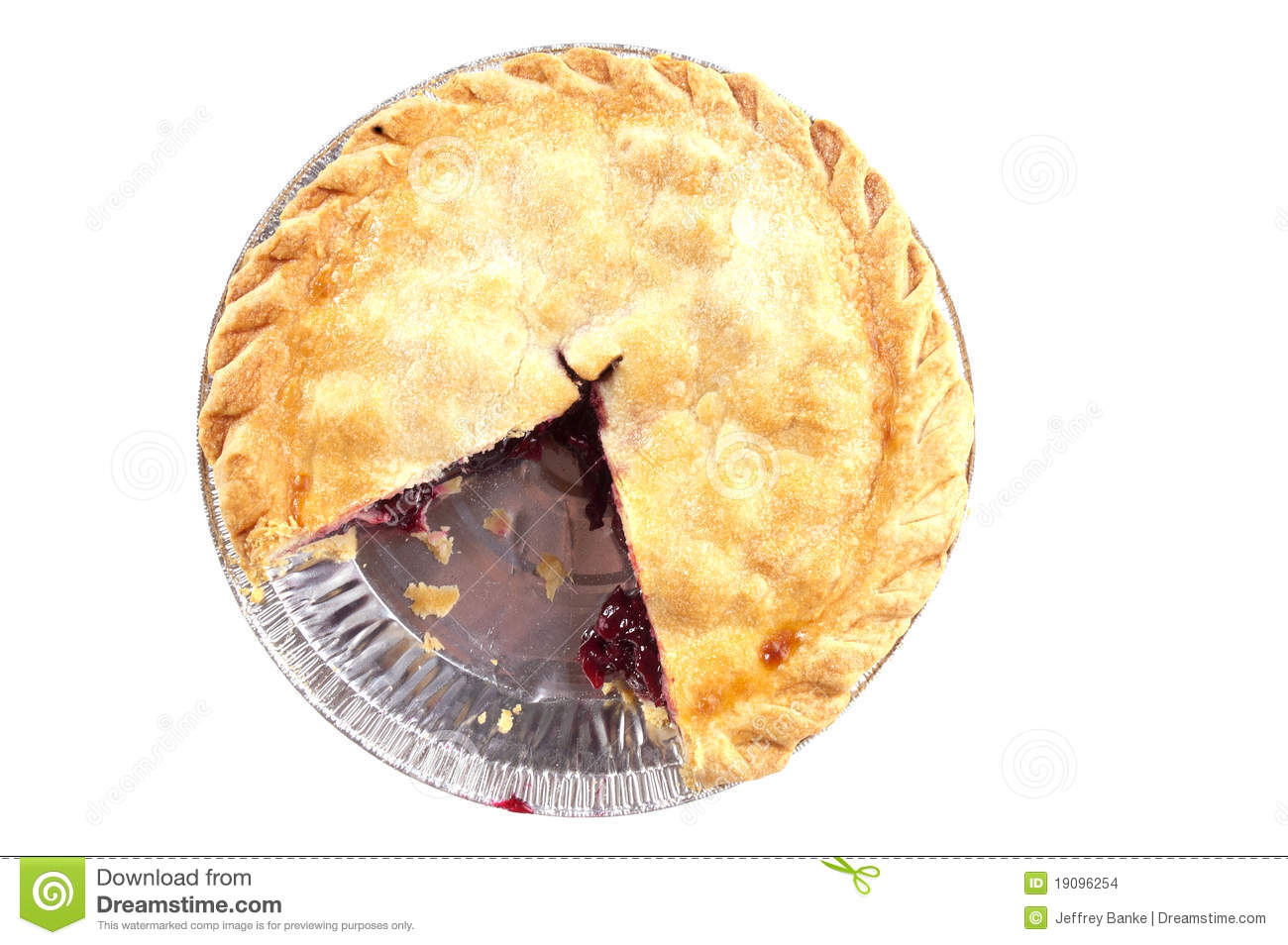 Unhealthy Food Plate Cherry Pie Missing A S...
