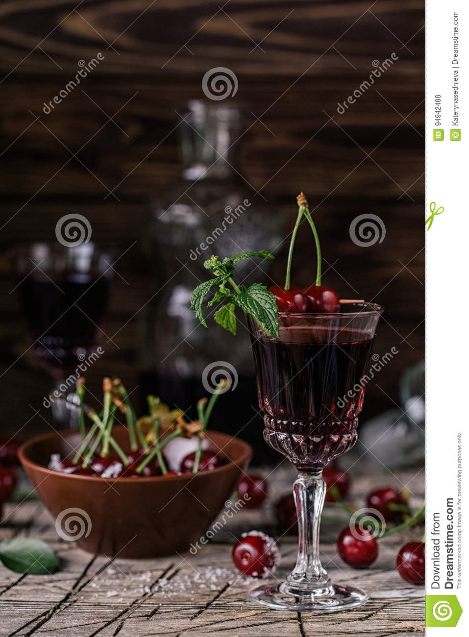 Cherry tincture stock photo  Image of organic, alcohol