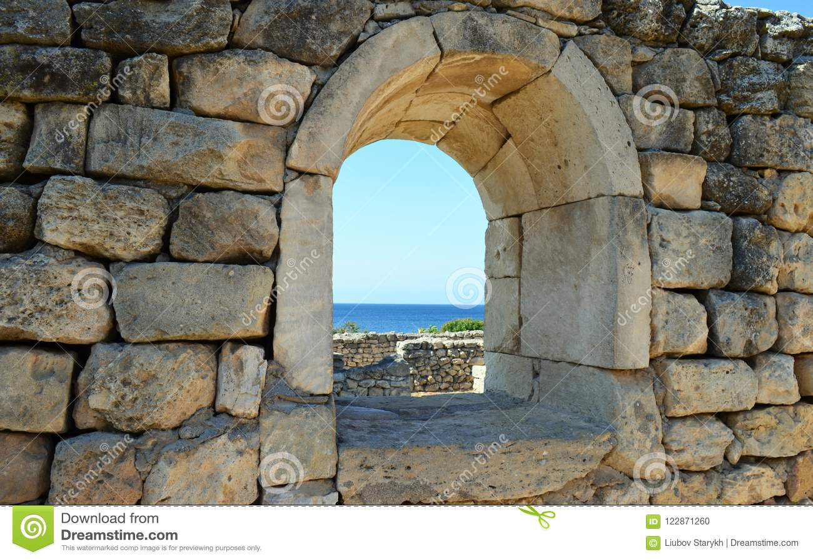 Chersonesos古城的废墟,在塞瓦斯托波尔,克里米亚