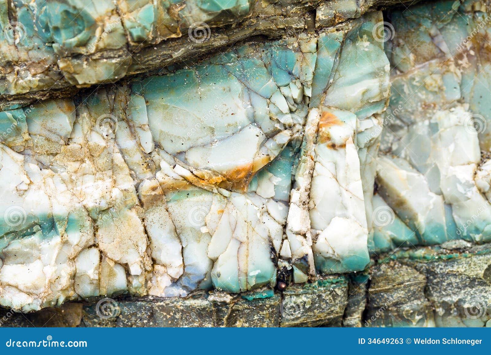 Chert Layers Closeup At Rainbow Rock Oregon Stock Image