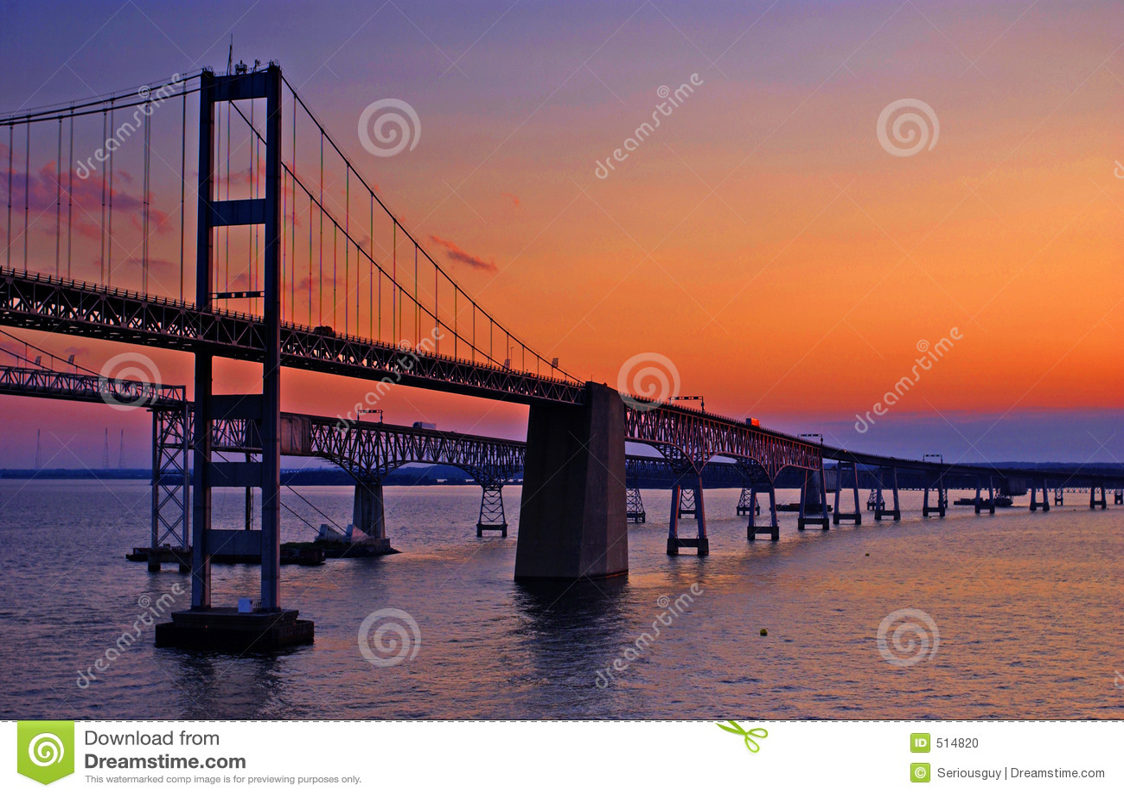 Chesapeake γεφυρών κόλπων αυγή