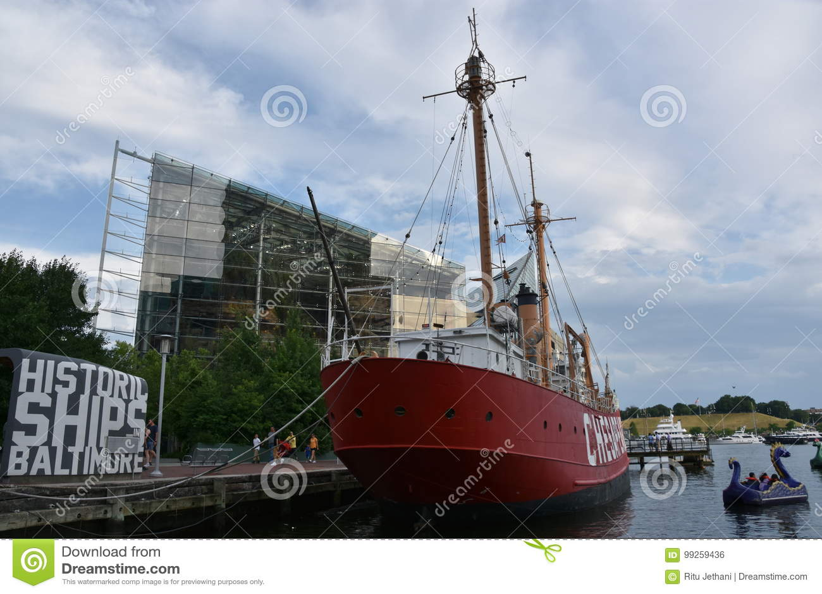 Chesapeake Ηνωμένων πλωτών φάρων LV-116 στη Βαλτιμόρη, Μέρυλαντ