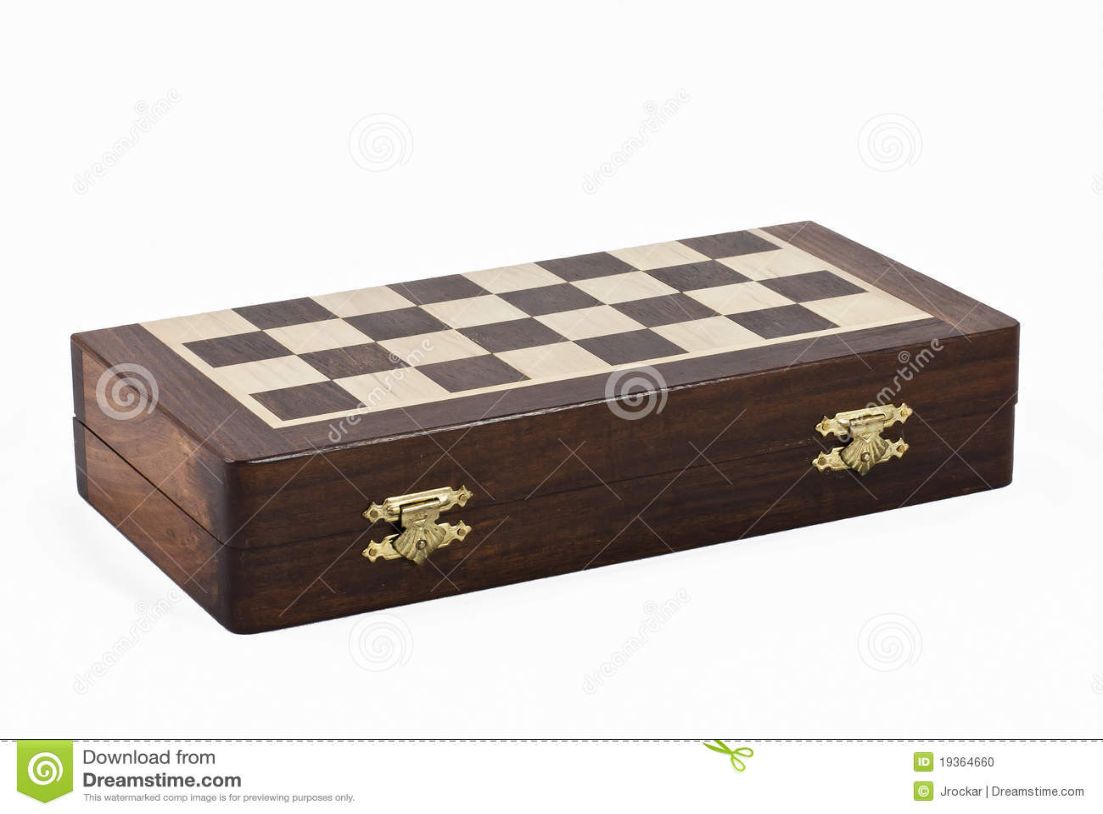 Chesboard de madeira do treaveller