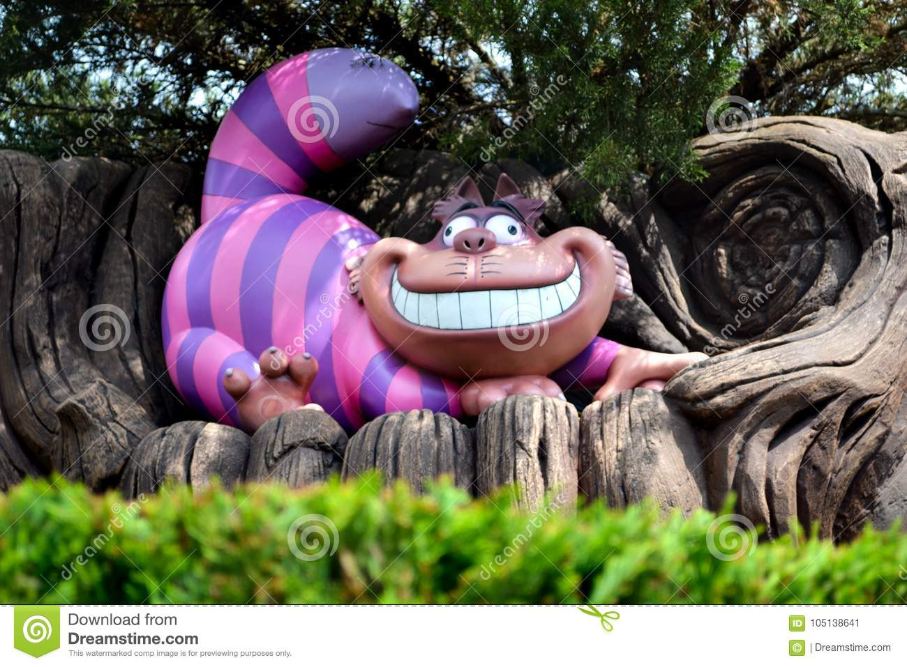 The Cheshire cat from magic Lewis Carroll`s tale