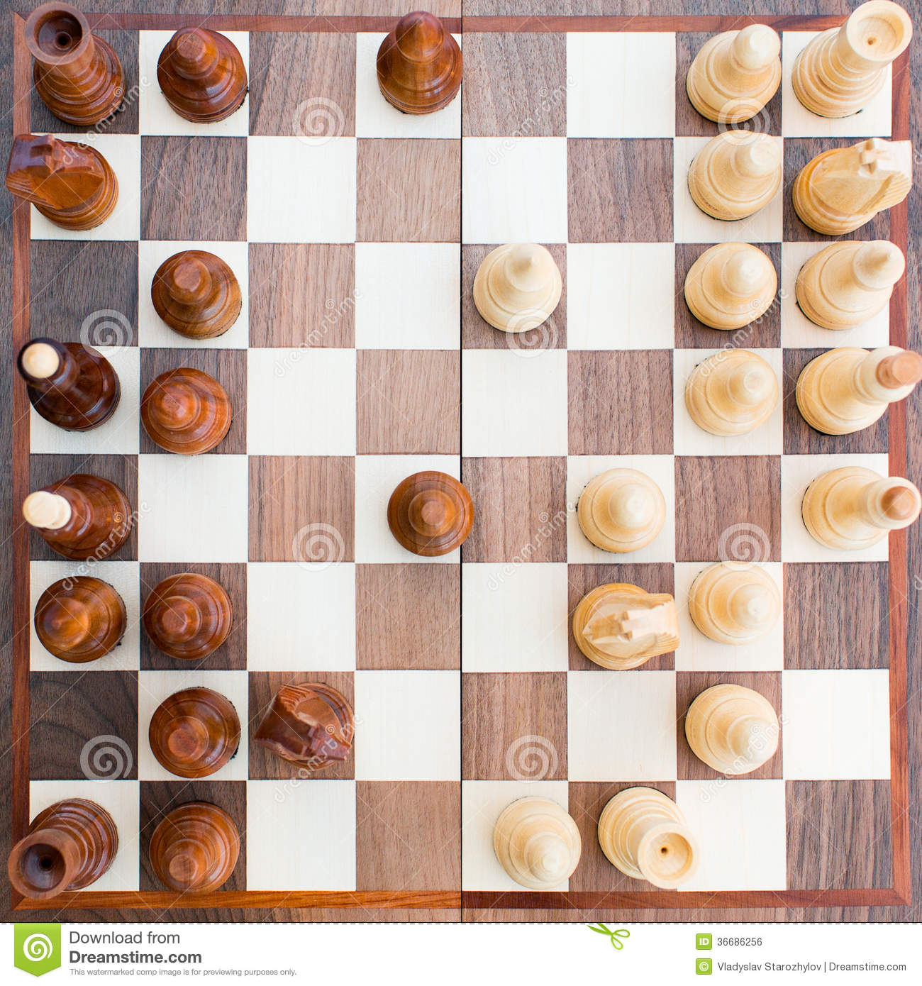Chess Board With All The Figures Royalty Free Stock Image